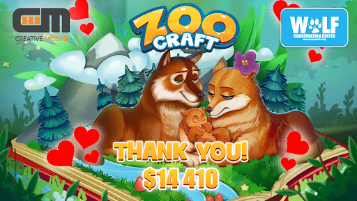 ZooCraft Collaboration Raises Money for Endangered Red Wolves